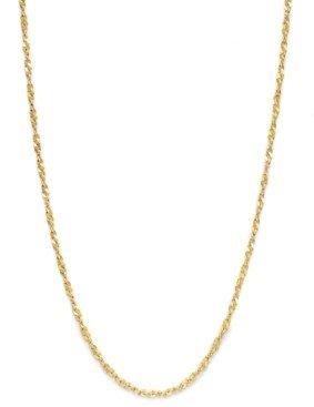 "Giani Bernini 18K Gold over Sterling Silver Necklace, 30"" Diamond-Cut Singapore Chain"