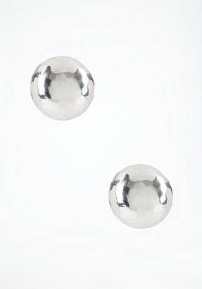 Bebe Hammered Half Dome Stud Earrings