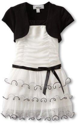 Amy Byer Girls 2-6X Triple Tier Dress with Shrug