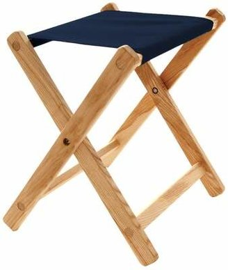 Blue Ridge Chair Works Folding Camping Stool Chair Works Cushion Color: Navy Blue