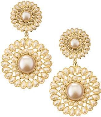 Amrita Singh Pearl Bead Two-Tier Drop Clip Earrings