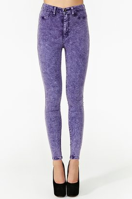 Nasty Gal Hot Acid Skinny Jeans - Lilac