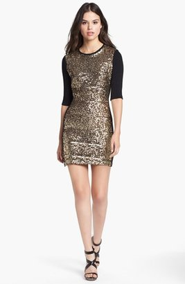 Dolce Vita Sequin Front Sweater Dress