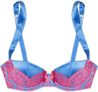 Agent Provocateur Abbey silk-satin and lace push-up bra
