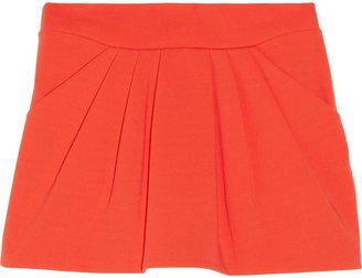 Diane von Furstenberg Jan pleated stretch-crepe mini skirt