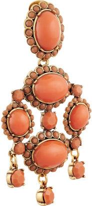 Oscar de la Renta Gold-plated resin clip earrings