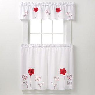 CHF & you poppy garden tier kitchen curtains