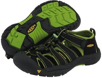 Keen Kids - Newport H2 (Youth) (Black/Greenery) - Footwear