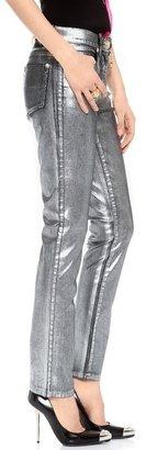 Versace Shiny Coated Skinny Jeans