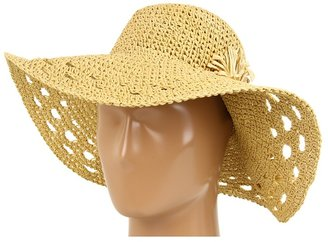 Jessica Simpson Two Flower Lurex Floppy (White) - Hats