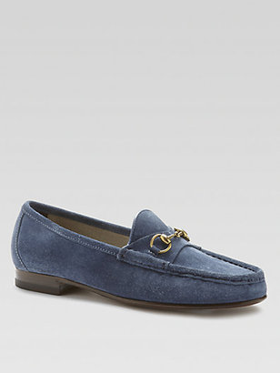 Gucci Suede Horsebit Loafers