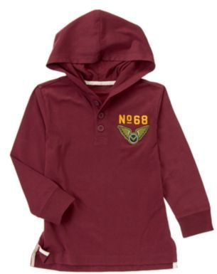 Crazy 8 Wings Hooded Henley Pullover