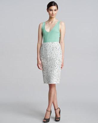 Nina Ricci Tweed Paillette Skirt