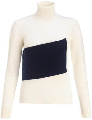 J.W.Anderson White Wool Banded Turtleneck