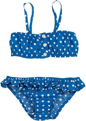 Petit Bateau Girl'S Polka Dot Swimsuit