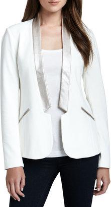 Ella Moss Sandra Open Shawl-Collar Blazer