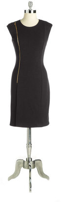 Calvin Klein Zipper-Detail Sheath Dress