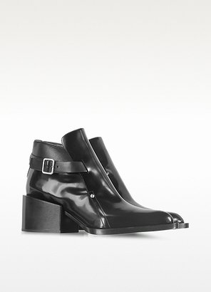 Jil Sander Black Leather Ankle Boot Moccasins