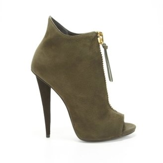 Giuseppe Zanotti Suede Olive Ankle Boots