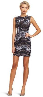 Cynthia Rowley Women's Floral-Bonded Sleeveless Dress