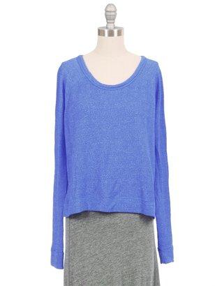 SUNDRY Crop Pullover Sweatshirt