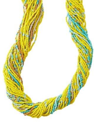 LOFT Long Multi Strand Seed Bead Necklace