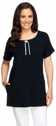 Denim & Co. Active French Terry Extended Sleeve Tunic