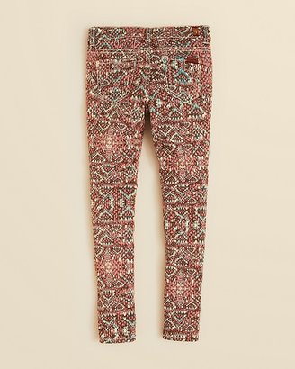 7 For All Mankind Girls' The Skinny Mosaic Print Jeans - Sizes 7-14
