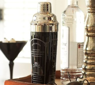 Pottery Barn Halloween Etched Recipe Cocktail Shaker