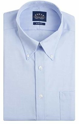 Eagle Men's Non Iron Slim Fit Solid Button Down Collar Dress Shirt