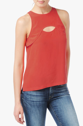 7 For All Mankind Keyhole Tank In Mandarin Red