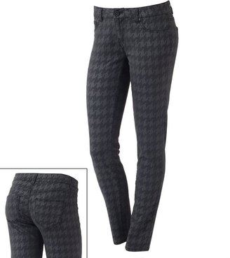 Tinseltown houndstooth skinny jeans - juniors