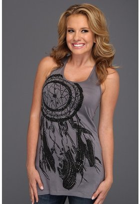 Rock and Roll Cowgirl - Dreamcatcher Tank Top (Steel) - Apparel