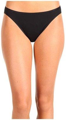 Hanro Cotton Seamless Hi-Cut Brief 1624 (Black) Women's Underwear