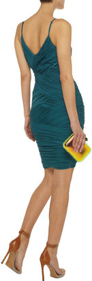 Halston Ruched stretch-jersey dress