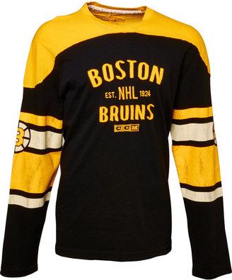 adidas CCM Men's Long-Sleeve Boston Bruins Top
