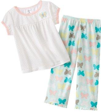 Carter's polka-dot butterfly pajamas - baby