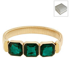 Kenneth Cole Green Square Bead Stretch Bracelet in a Gift Box