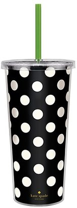 Kate Spade Insulated Tumbler, Black Dots