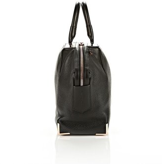 Alexander Wang Small Emile In Soft Black With Rose Gold