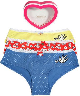 Juicy Couture Multicolor Valentines Hearts Panty Set