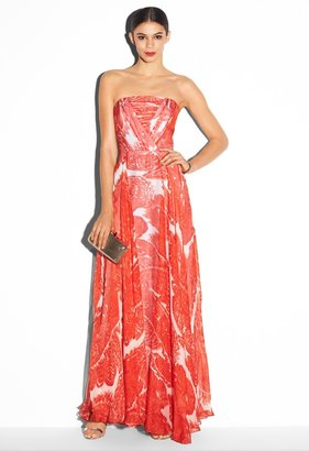 Milly Monica Strapless Maxi