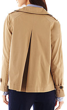 JCPenney jcp Cropped Trench Coat