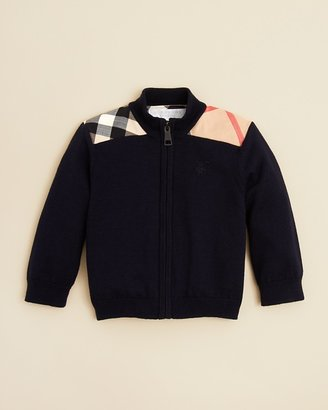 Burberry Infant Boys' Christen Full Zip Sweater - Sizes 6-18 Months