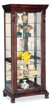 Wildon Home Asotin Lighted Curio Cabinet