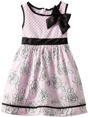Nannette Girls 4-6x Floral And Dot Print Dress