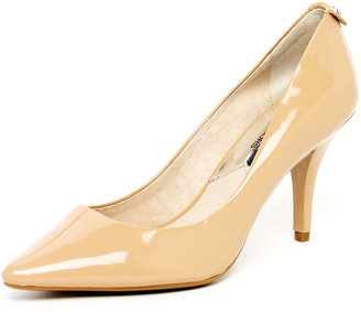 MICHAEL Michael Kors Flex Patent Leather Mid Pump, Nude