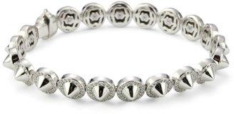 Hilton Nicky Sterling Silver Spike Tennis Bracelet With Cubic Zirconia