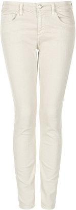 Topshop MOTO Cream Baxter Skinny Jeans