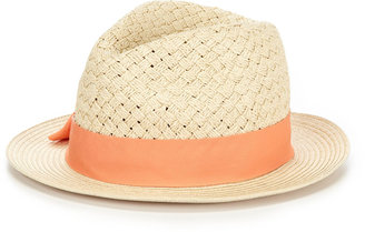Hat Attack Basketweave Ribbon Fedora